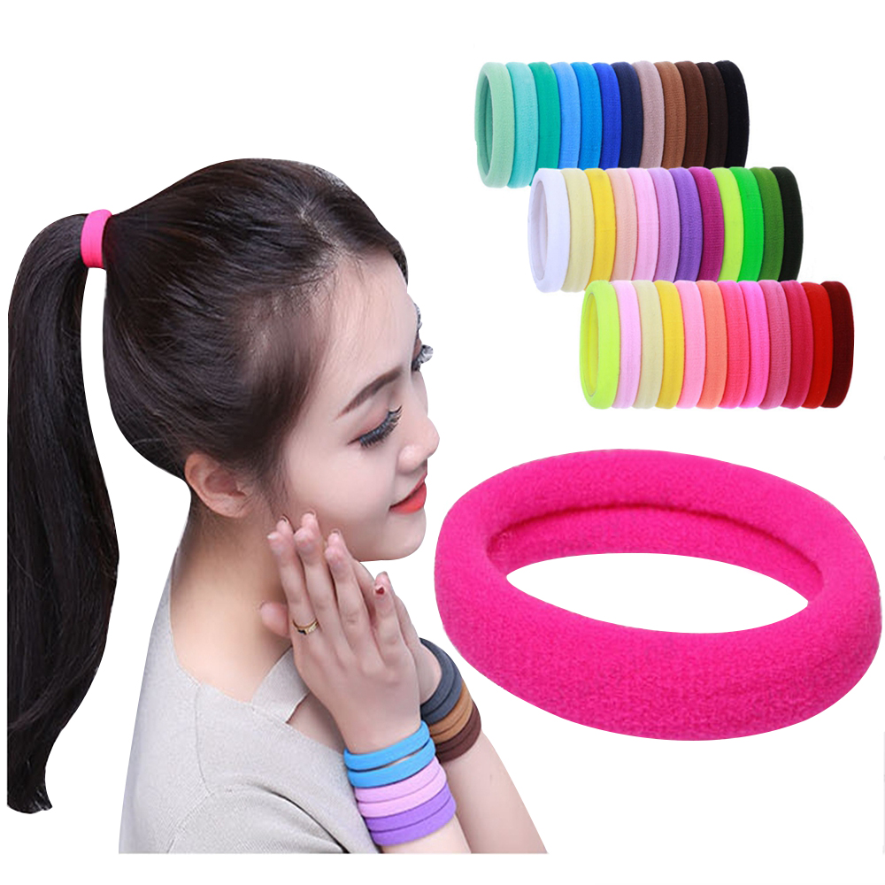 women 4.3cm Tools Rubber Band Hair Ropes Gum Ponytail Holders HairBand Hair Accessories Elastic Hair band   headwear   30pcs/Lot
