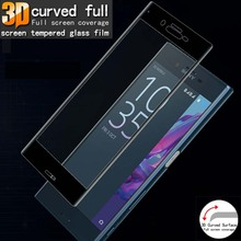 3D Curved Edge Full Cover Tempered Glass for Sony Xperia XZ2  XZ1 Screen Toughened Protective Film Compact