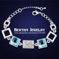 Lujo Pulseras Pulseras para mujer con Cristal Swarovski Elements Cristal Bijoux joyería fina encanto calidad superior regalo de boda