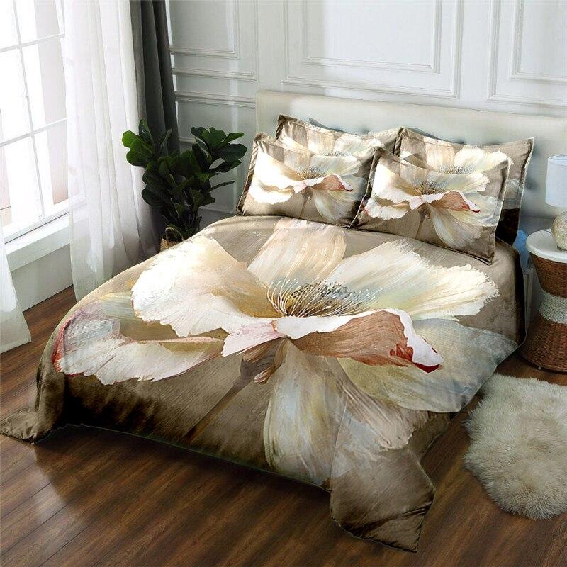 Neue Produkt 3D gedruckt 4 Stücke Bettwäschesatz Mikrofaser Bettwäsche blumen Bettwäsche Bettbezug set Bettlaken - 4
