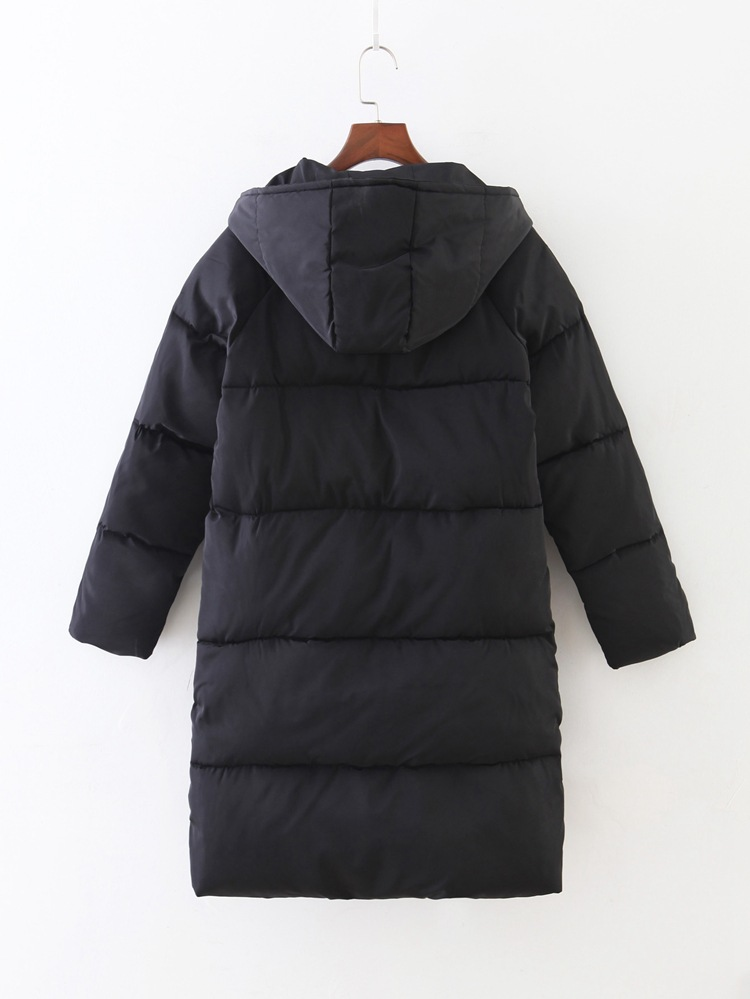 Mode Hiver Veste Femelle Manteau gris Longue Manteaux Femmes Noir Pour Parkas Outwear Colly D'hiver Coton Lisa 4w75Fa