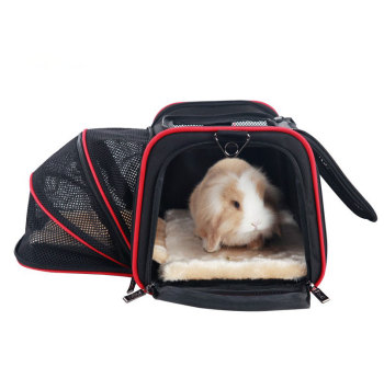 Portable Storage Pet Dog Carrier Bags Dog Cat Puppy Pet Travel Tote Shoulder Bag Cage Crate Gray Black 1