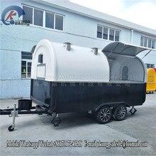UKUNG стиль Стекловолоконный пищевой караван с двойным сервисным окном, 380 см пищевой прицеп