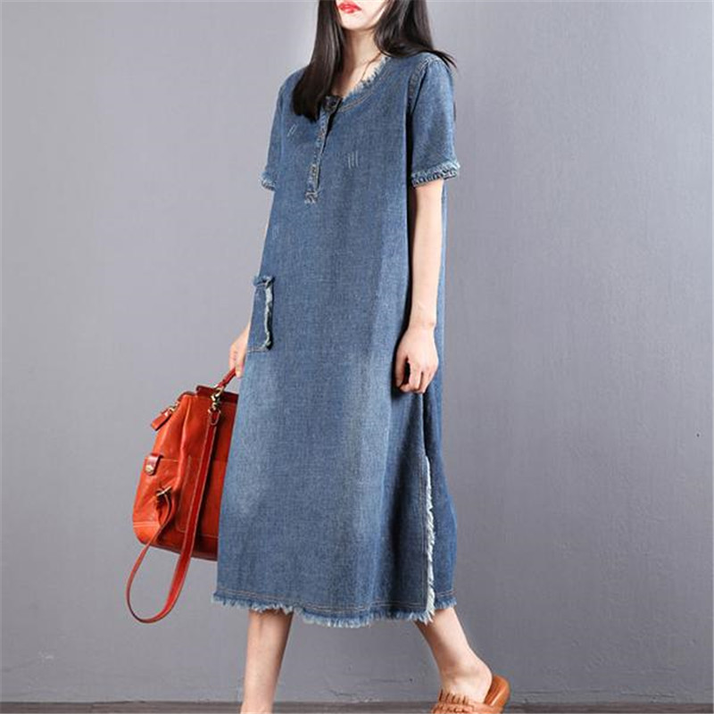 ad43586a459 Buy denim distressed dress and get free shipping on AliExpress.com