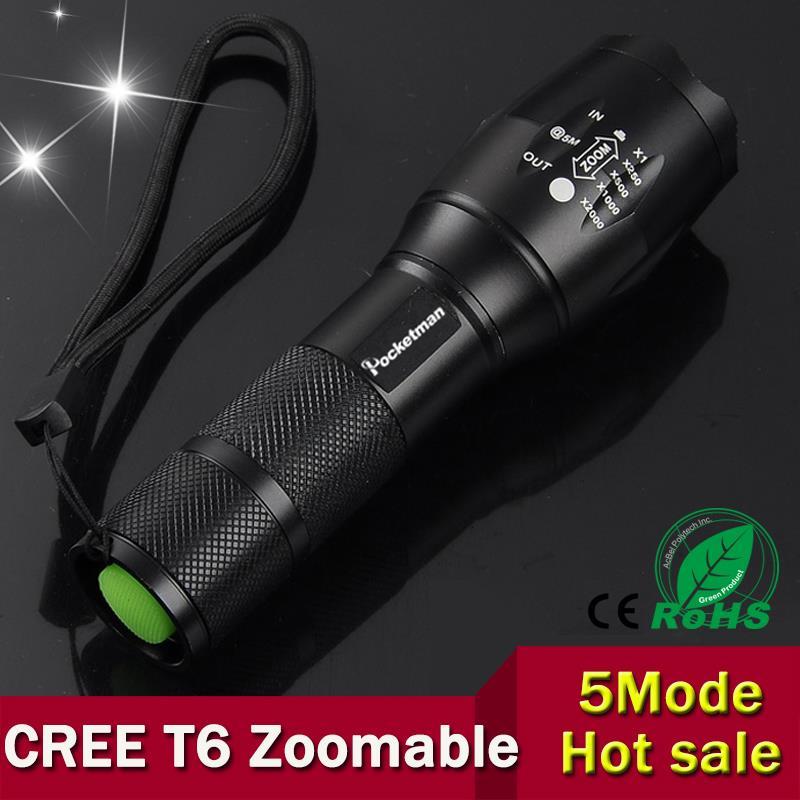 led flashlight cree xm l t6 led torch flashlight zoomable. Black Bedroom Furniture Sets. Home Design Ideas