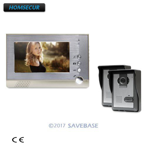 все цены на HOMSECUR 7inch Video Door Entry Call System Electric Lock Supported for Home Security онлайн