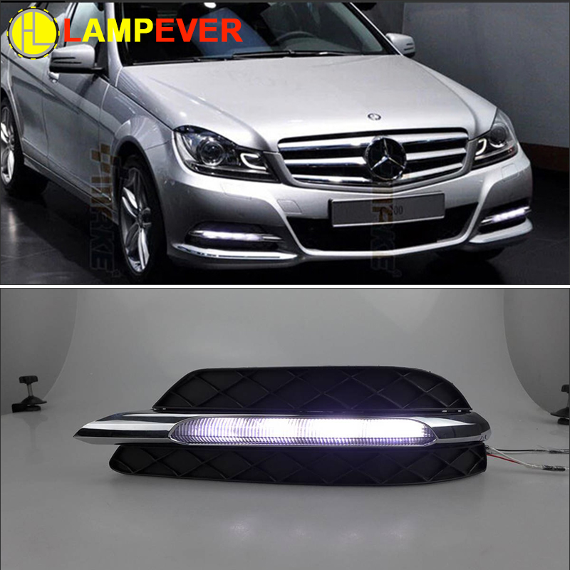 Lampever Car Drl Kit For Mercedes Benz W204 C200 C260 C300
