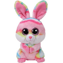 "Pyoopeo Ty Beanie Boos 10"" 25cm Lollipop Multicolor Bunny Plush Medium Soft Big-eyed Stuffed Animal Rabbit Collection Doll Toy(China)"