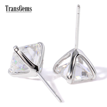 Round Brilliant 1.3 CTW Carat (Man Made) Moissanite Diamond Stud Earrings Yellow Gold push Backs for Women Gift