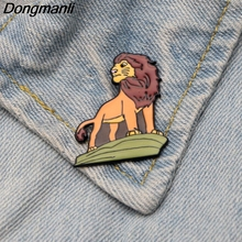DMLSKY The Lion King Brooches Cartoon Enamel Brooch For Women Men Tie Pins Personality Clothes Pin Badge Jewelry M2892