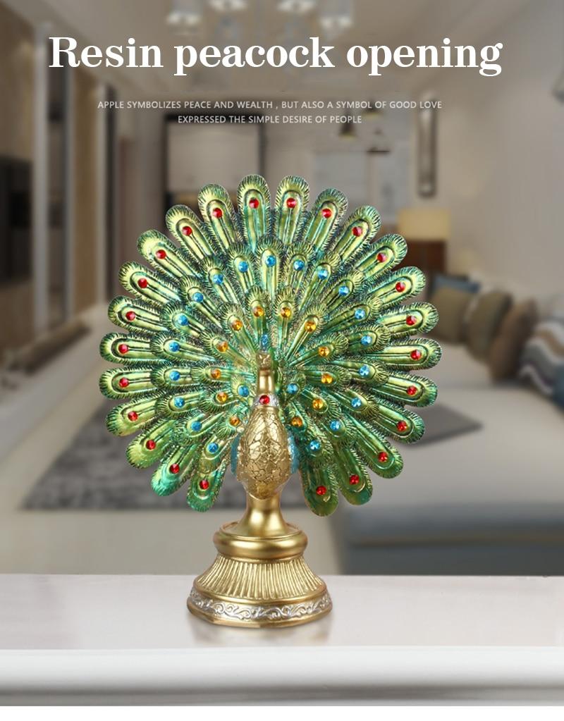 Mega Deal 5c2c European Resin Peacock Opening Figurines