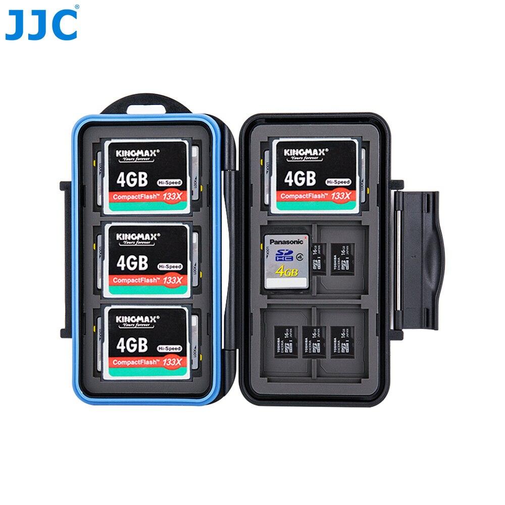 JJC Memory Card Storage SD/MSD/CF Cards Case Water-Resistant Box for Canon/Nikon/Sony/Fujifilm/Olympus/Leica Camera