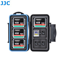 JJC Memory Card Storage SD/MSD/CF Cards Case Water-Resistant Box for Canon/Nikon/Sony/Fujifilm/Olympus/Leica Camera