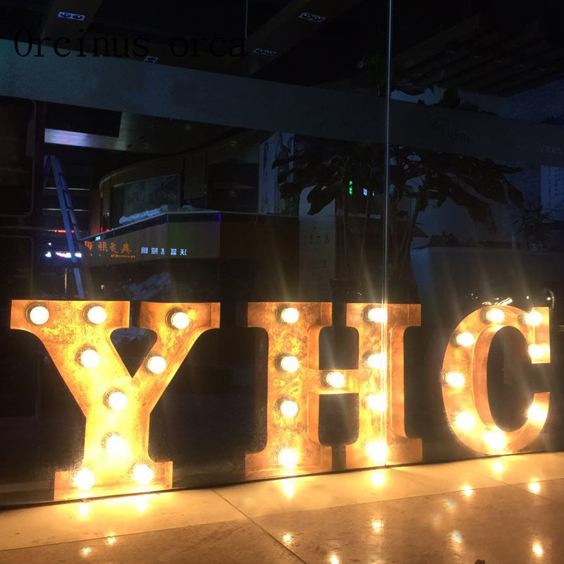 Retro industrial wind letters wall lamps shop signs coffee shops clothing stores interior signs LOGO window lights Postage free
