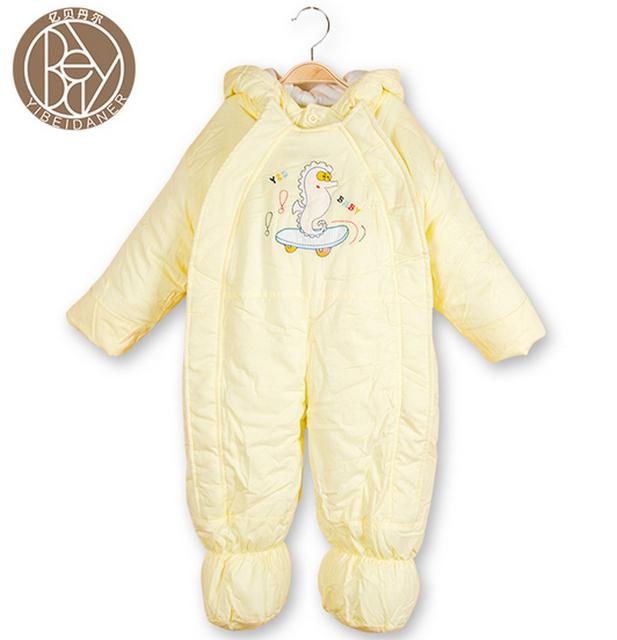 Envío Libre 2017 de invierno niño niños niñas ropa de primavera otoño Mamelucos del bebé Bebé Guardapolvos Calientes Algodón Escalada Ropa Para Bebés