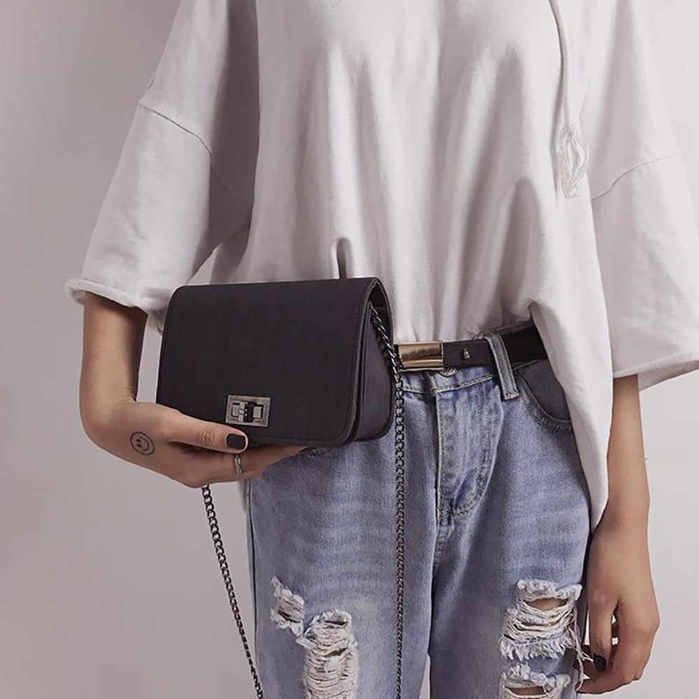 ミニ革のクロスボディバッグ女性 2019 チェーンショルダーバッグメッセンジャーバッグ旅行財布とハンドバッグクロスボディバッグドロップ