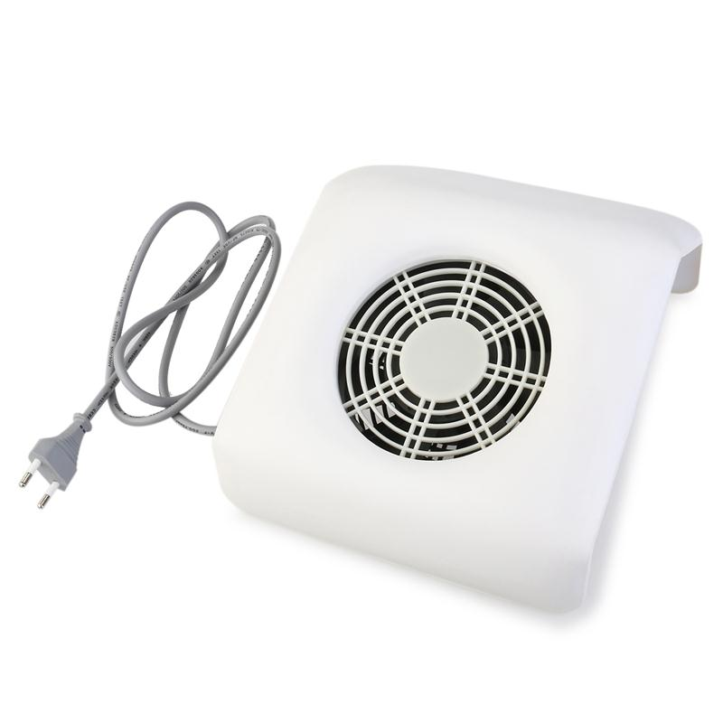 Nail Dust Collector Suction Nail Art Collector Dust Vacuum Cleaner Tool  (White)