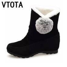 VTOTA Nieve Botas Mujer Zapatos de Invierno Plana Tobillo Caliente Botas Tenis Feminino Zapatos Casuales Resbalón En Los Zapatos De Las Mujeres Botas Mujer E30