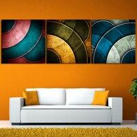 2017 Картина Маслом печатные Современные Абстрактные Картины на Холсте 3 Шт. Wall Art Главная Декорации Аватар для Внутренней Отделки