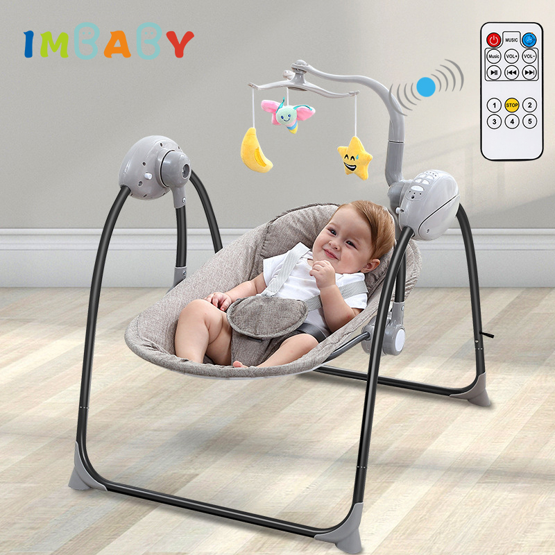 IMBABY Baby Rocking Chair Baby Swing Electric Baby Cradle With Remote Control Cradle Rocking Chair For