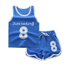 Toddler Boy Summer Clothes Children's Basketball Uniform Baby Girl Tracksuit 2pcs Set Kids Boys Girls Sports Clothes Set Outfit недорого