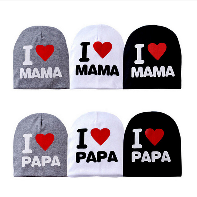2c4c1485434 Baby Cap I Love MAMA or PAPA Knit Hat for Kids Infant Boys Girls Children  Beanie I Love Mom Toddler Stocking Caps 8 to 36 Months