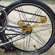AGEKUSL Pro велосипеда цепь натяжитель для Brompton велосипедный ролик переключателя передач колеса комплект задний переключатель подшипник руководство колеса для 1 2 3 Скорость CNC