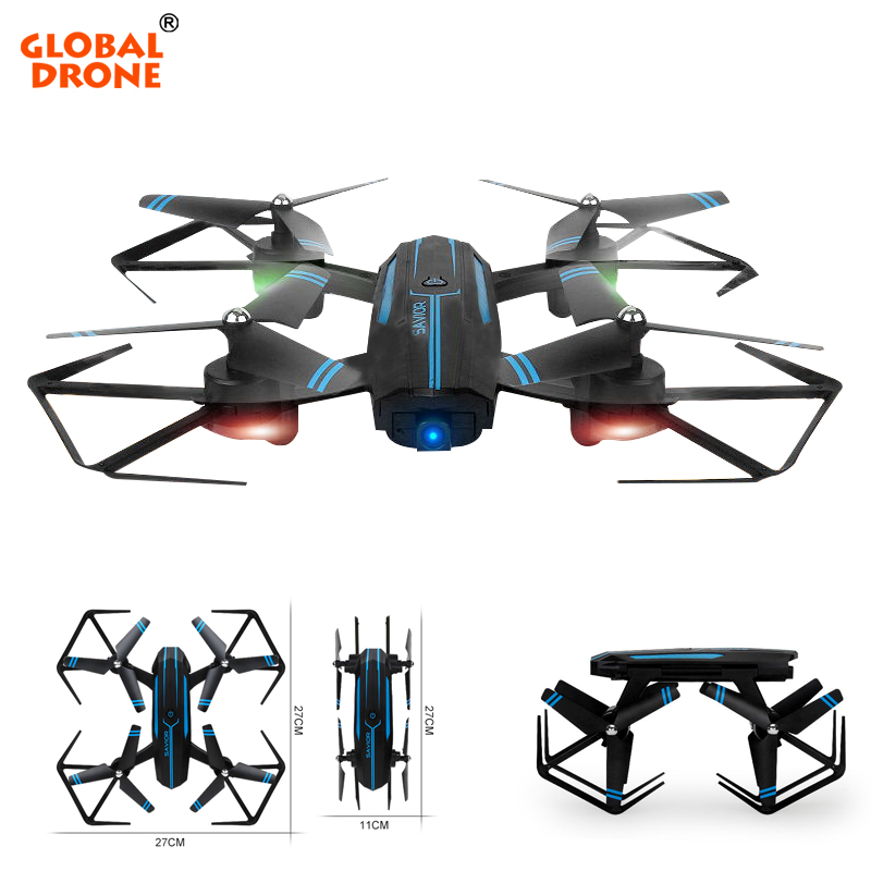 купить Global Drone Wifi FPV RC Helicopter Foldable Arm 2.4G 4CH RC Drones with Camera HD Headless Mode High Hold Mode Quadrocopter онлайн