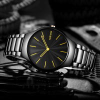 NEOS Men 's Watch Ultra thin Simple Fashion Section Leisure Tide Waterproof Men' s Table Quartz Watch Steel Belt