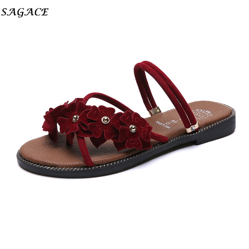 SAGACE shoes Women Ladies Fashion Bohemian Style Loafer Causal Beach Slipper Shoes Sandals Folower High Beach summer SandalsSAGACE shoes Women Ladies Fashion Bohemian Style Loafer Causal Beach Slipper Shoes Sandals Folower High Beach summer Sandals