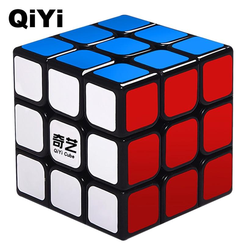 Qiyi 3x3 cubo mágico profissional vela 0932a-5 velocidade rápida rotação de alta qualidade cubos magicos velocidade cubo brinquedos para crianças mf3set