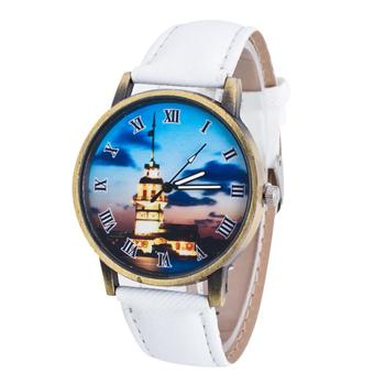 Women Watches Causual Temperament Special Pattern Leather Band With Simulated Quartz Gifts my29