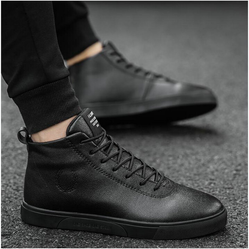 New Fashion Red White Black Mens Casual Shoes Men High Top Shoes Casual Shoes Male PU Leather Lace Up sneaker shoes NN-41 2016 new men casual shoes fashion white black high top spring autumn winter pu men s classic leather shoes for men