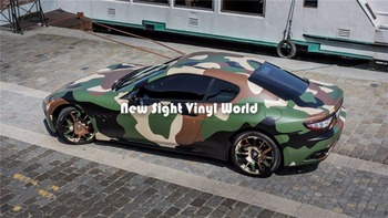 Jumbo Jungle Camo Vinyl Wrapping Film Sticker Decal Bubble Free