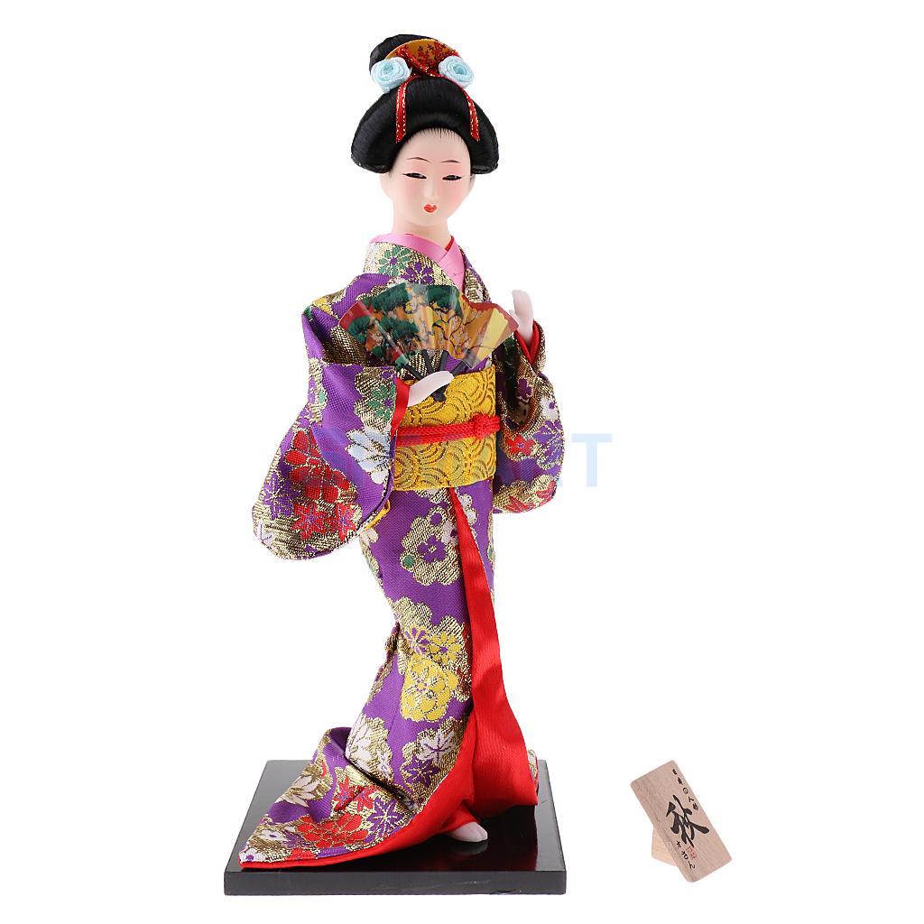 12 ''handwerk Exquisite Japanischen Kimono Geisha Kabuki Puppe für Haus Dekoration Schmuck Sammlerstücke Handwerk Geschenk