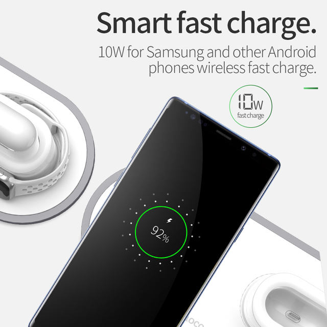 10W Qi Fast Wireless Charging Pad for iPhone, iWatch & AirPods
