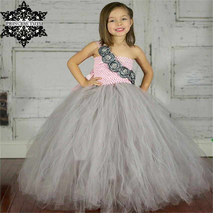 Princess Tutu Cute Flower Girls Tutu Dress For Wedding Kids Children Ball Gown Pageant Party Flower Girl Dress