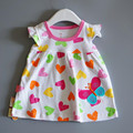 new 2017 summer baby girl dress,newborn baby girl clothes,baby cartoon clothing,infant love girl dresses for age 6-18 Months