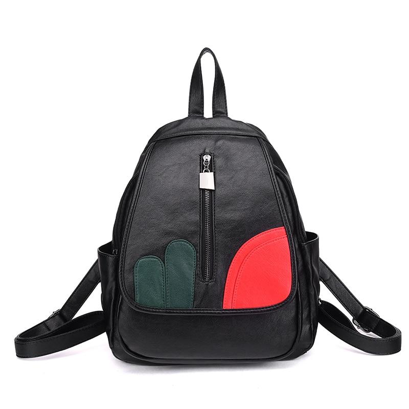 backpack women cover two pu leather polyester fashion bolsos mujer sac pochette femme mochila feminina