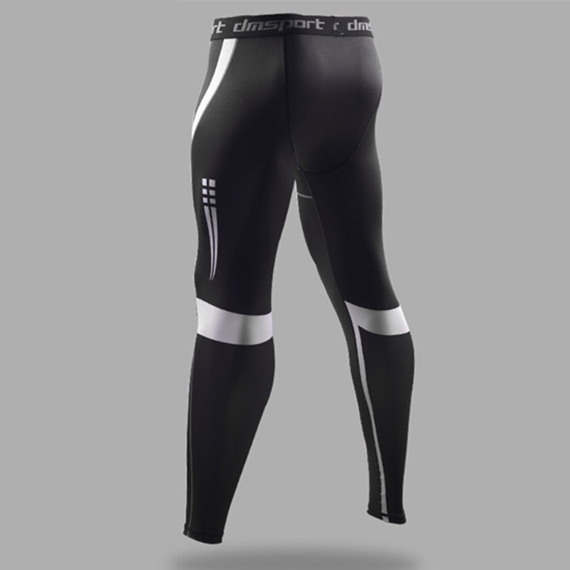 a048f78893 Men's Sports Leggings Black Compression Pants High Elastic Running Tights  Basketball Leggings Sweatpants Fitness Long Trousers -in Running Tights  from ...