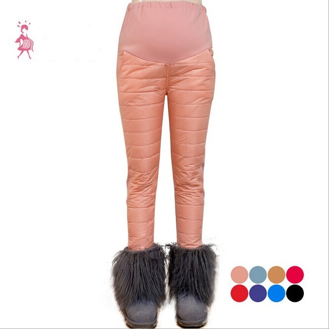 Winter Maternity Pants for Pregnant Women,Thick Warm Pregnancy Trousers/Leggings,Plus Size Pregnancy Maternity Clothing/Clothes