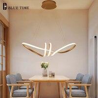 골든 & 블랙 & 화이트 바디 매달려 램프 현대 led 펜 던 트 조명 식당 거실 침실 활 모양 홈 led 펜 던 트 램프