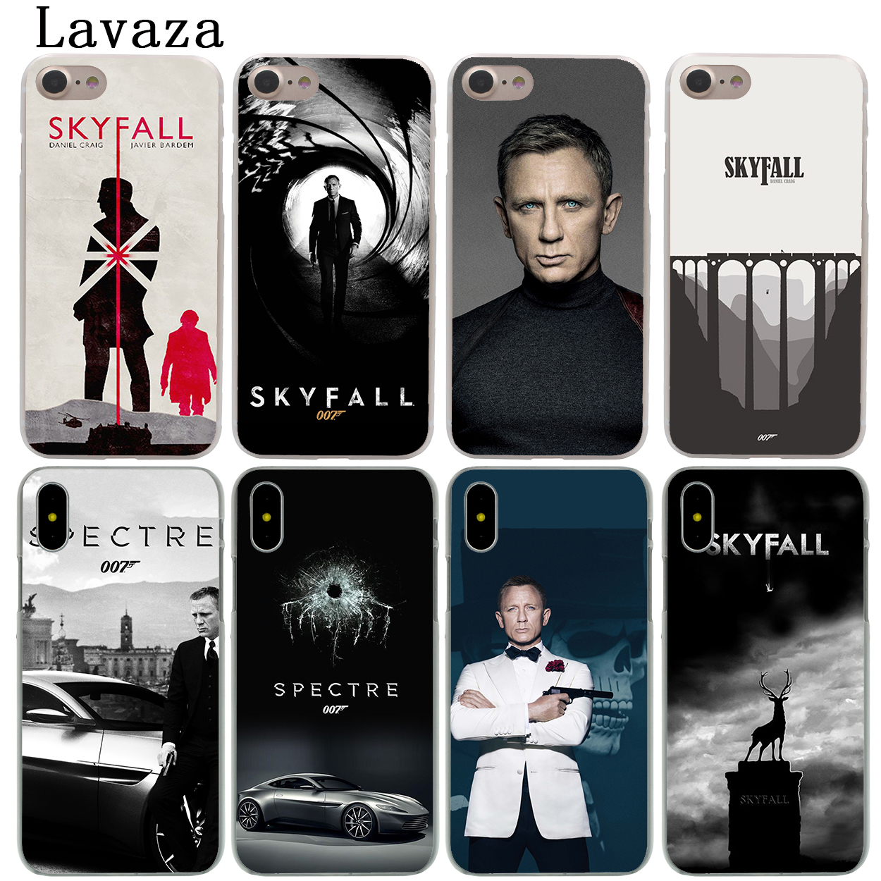 b7ec0cb283e Lavaza 007 Spectre James Bond Skyfall Hard Phone Shell Case for Apple iPhone  XS Max XR X 6 6S 7 8 Plus 5 5S SE 5C 4S 10 Cover-in Half-wrapped Case from  ...