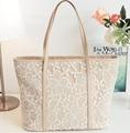 DL123 Women handbags 40*33*13*27cm Hot fashion handbags new wave of female bag big bag lace shoulder bag handbag