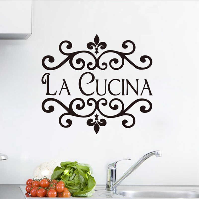 La Cucina Kitchen Wall Sticker Italian Home Kitchen Quote ...