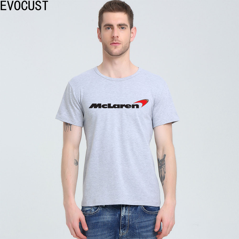 2017 Summer Fashion MCLAREN <font><b>F1</b></font> red logo <font><b>T</b></font>-<font><b>shirt</b></font> Lycra Cotton Men <font><b>T</b></font> <font><b>shirt</b></font> image