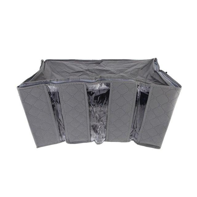 Складная Сумка Для Хранения Bamboo Уголь Волокна Одежда Одеяло Шкаф Случае антибактериальные Свитер Организатор Box 60*34*29 см Серый