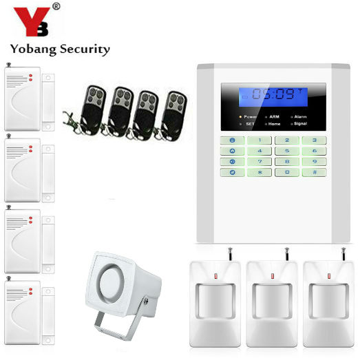 Yobang Security- Home Security Alarm Smart Home Wireless Alarm GSM Home Voice Alarm Gsm Alarm Security System with Quad-band yobang security english russian voice home alarm app gsm alarm system 99 wireless zones wireless wired house alarm smart home