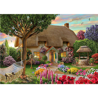 Diamond Painting Dream Cottage 40x30cm Diy Diamond Drawing Crafts Needlework Square Drill Rhinestone Pasted Diamond Embroidery