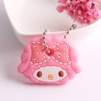 Cartoon Anime Cute Key Cover Cap Silicone Mickey Stitch Bear Keychain Women Gift 1